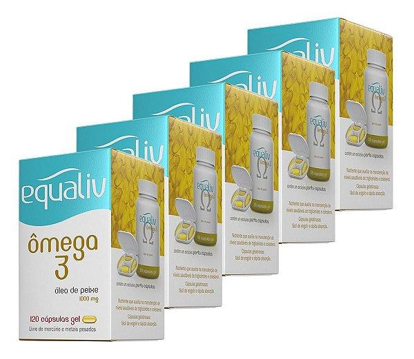 Kit 5x Omega 3 - 120 Cápsulas - Equaliv