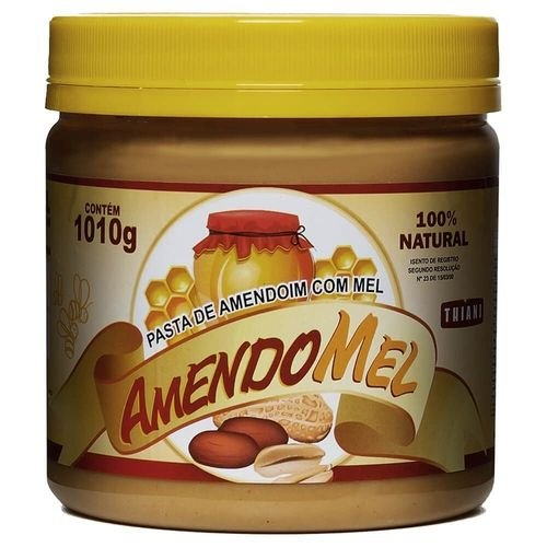Pasta de Amendoim com Mel 1kg - Amendomel