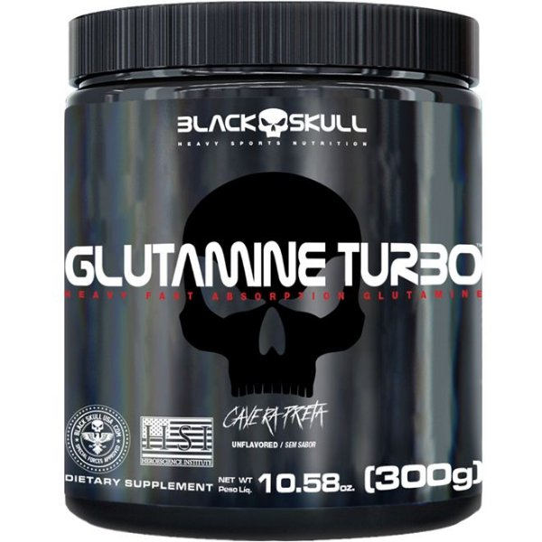 Glutamina Turbo (300g) - Black Skull