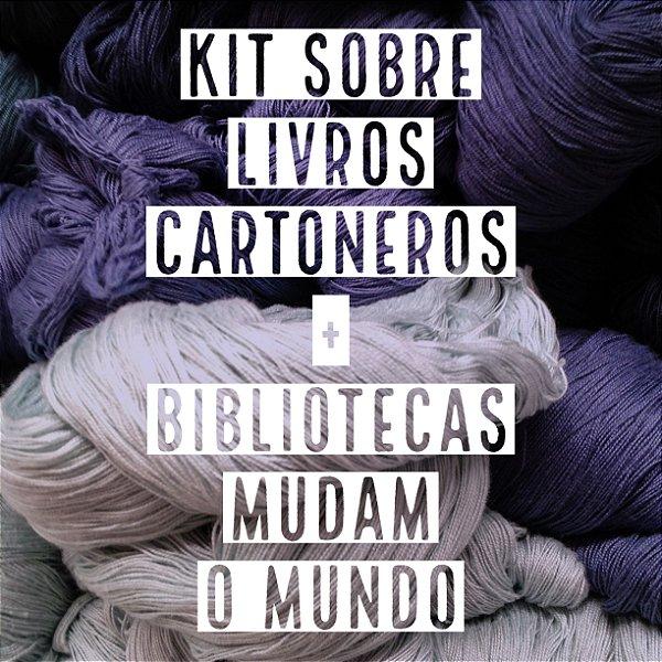 Kit Cultura Maker - Sobre Livros Cartoneros + Bibliotecas Mudam o Mundo
