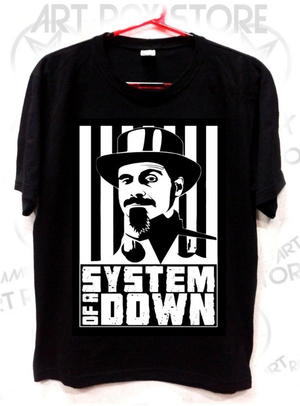 CAMISETA SYSTEM OF A DOWN - Serj Tankian - Camisetas Art Rox Store 934875944ed4d