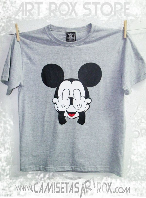 CAMISETA MICKEY FUCK OFF