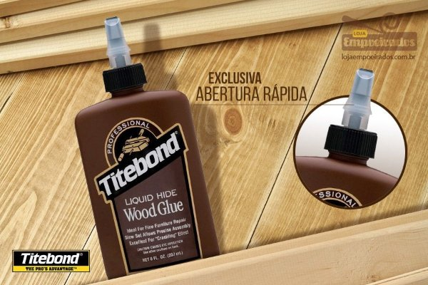 Cola para Madeira Titebond Liquid Hide Wood Glue - 237ml