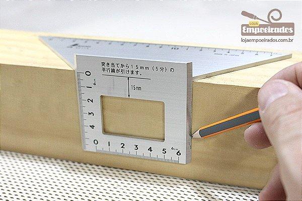 Esquadro Shinwa Japonês 45 e 45º 3D [62114]