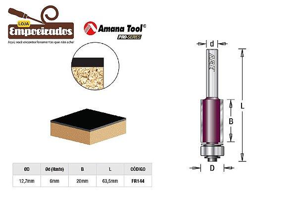 Fresa AGE™ Pro-Series Amana Tool - Reta/Paralela com Rolamento Inferior para Laminados 12,7mm x 20mm [FR144]