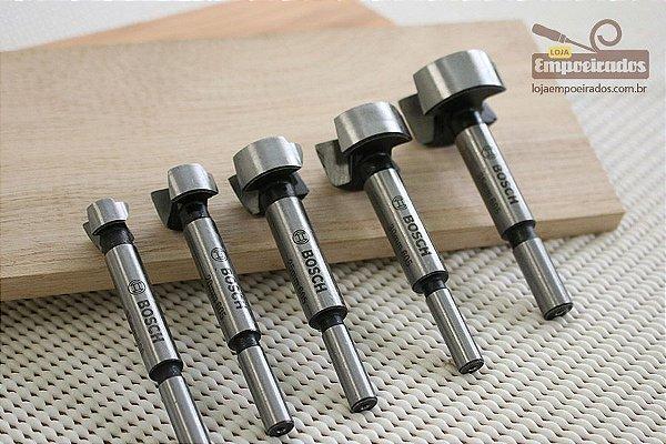 Kit de Brocas Forstner com 5 peças - Bosch [15, 20, 25, 30 e 35mm]