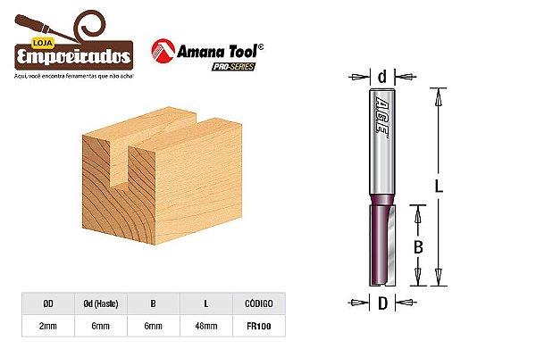 Fresa AGE™ Pro-Series Amana Tool - Reta/Paralela 2 x 6mm [FR100]