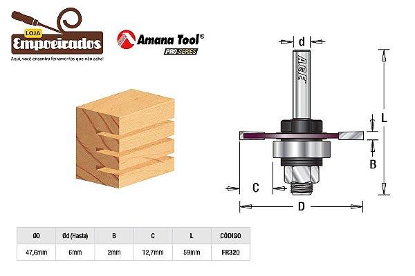 Fresa AGE™ Pro-Series Amana Tool - Canal Debrum - 2mm [FR320]