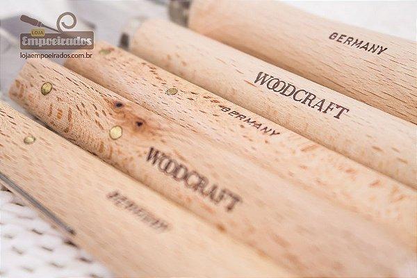 Kit Faca para Entalhe de Madeira com 5 peças - Woodcraft - Alemanha