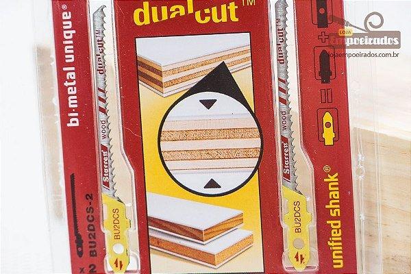 Lâmina de Serra Tico-Tico Bi-Metal Unique™ Starrett com encaixe Unificado™ Dual-Cut - Blister com duas unid. - BU2DCS-2