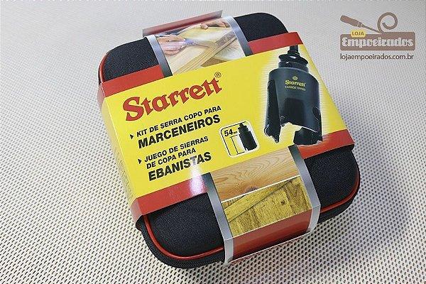 Kit com 2 serras copo para madeira passa fio - 46mm e 59mm + Suporte Starrett - KMP02011-S