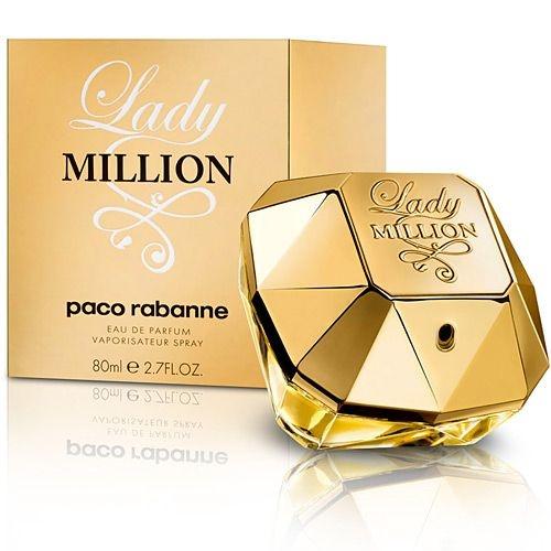 PERFFUMES IMPORTADOS  ''LADY MILLION ''  80ml, FEM. PACO RABANNE EAU DE PARFUM