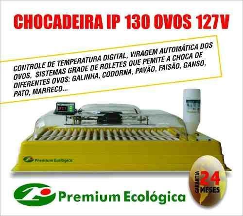 CHOCADEIRAS AUTOMATICAS, PREMIUM ECOLÓGICA - 130 OVOS- GARANTIA 24 MESES.