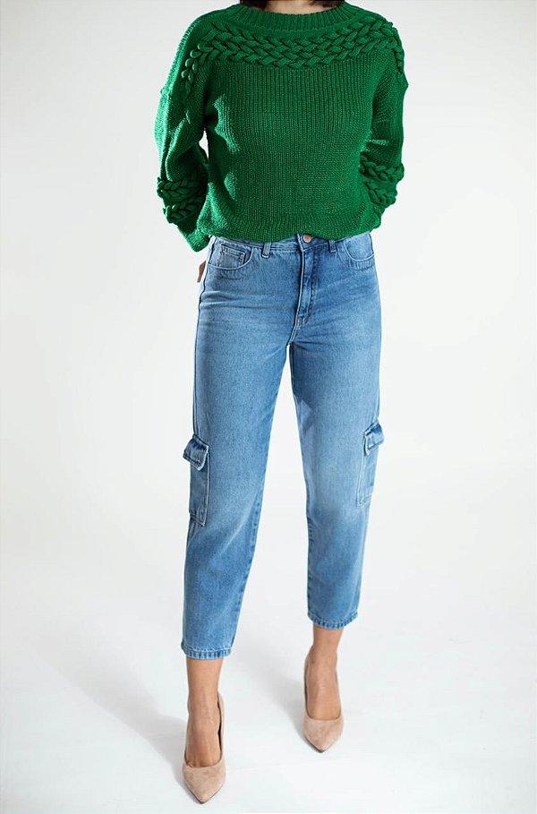Calça Jeans Skinny Cargo - Natal