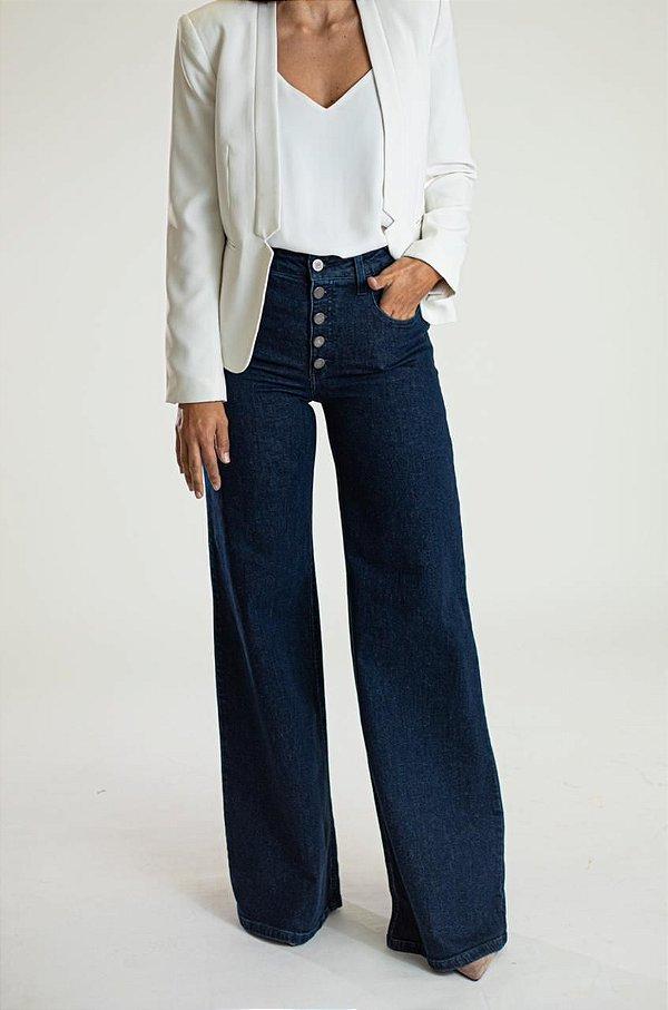 Calça Pantalona Jeans - Santiago