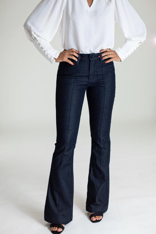 Calça Jeans Microflare - Bruxelas