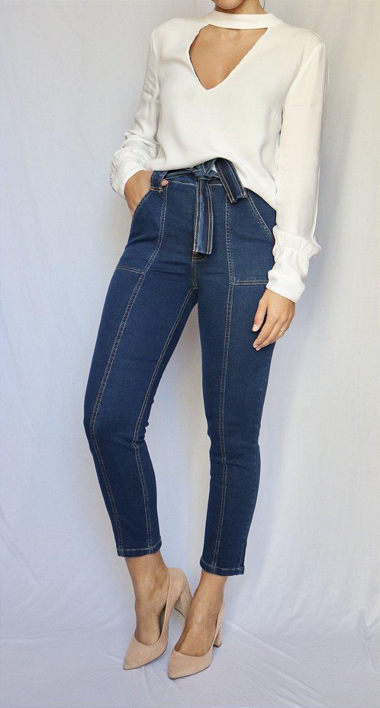 Calça Jeans Skinny  Pants - Kiev - Santé Denim