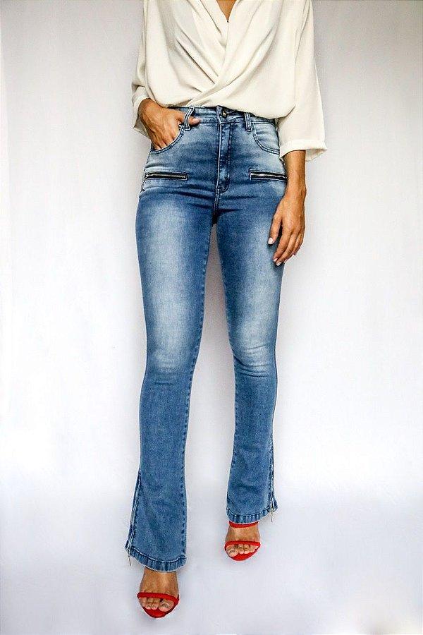 Calça Jeans Microflare Zíper - Deventer - Santé Denim