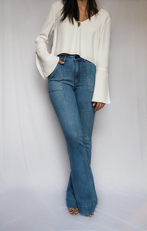 Calça Jeans Flare - Madrid - Santé Denim
