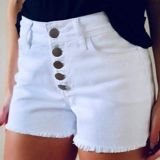 Shorts Sarja Branco- Verona - Santé Denim - 5 Botões **
