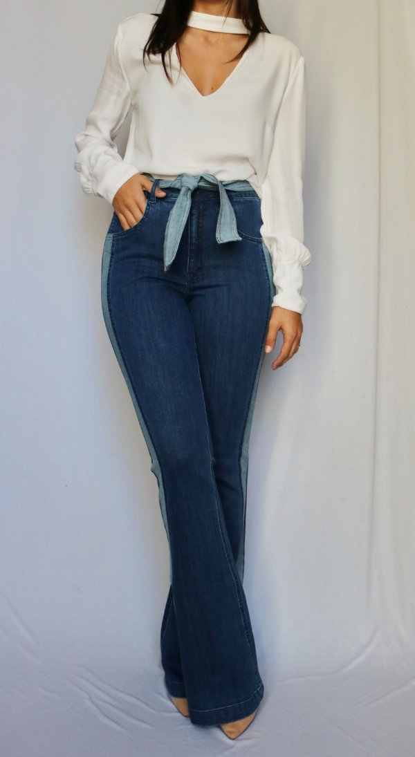 Calça Jeans Flare - Ontario - Santé Denim