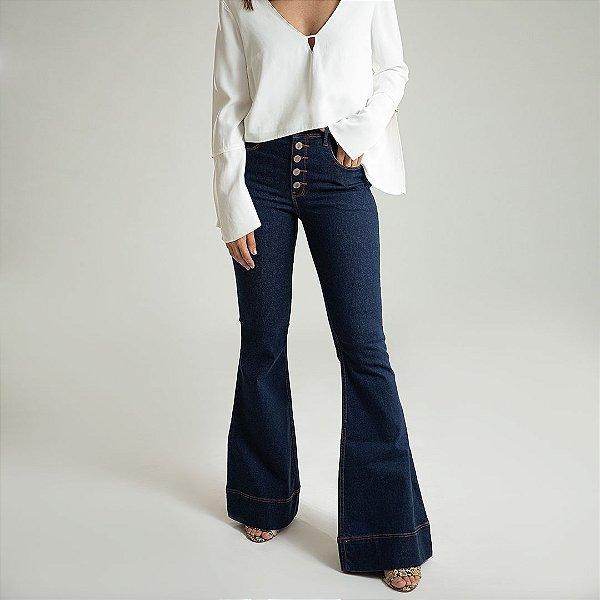 Calça Jeans Flare Cobre - Viena - Santé Denim