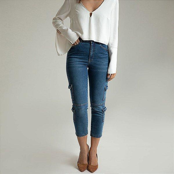 Calça Jeans Skinny Cargo - Sevilha - Santé Denim