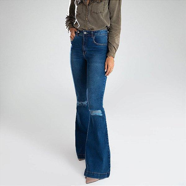 Calça Jeans Flare - Barranquilla - Santé Denim