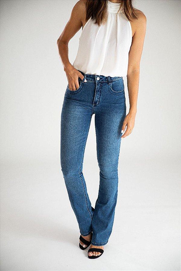 Calça Jeans Boot Cut - Athenas - Santé Denim