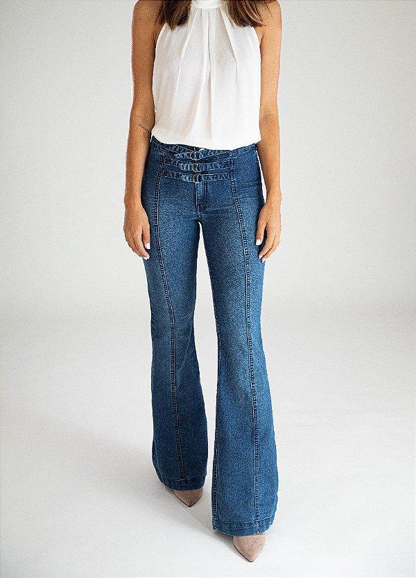 Calça Jeans Flare - Milos