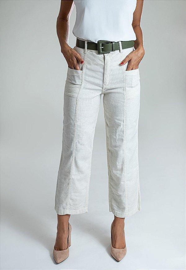 Calça Jeans Straight Leg Linho - Nelspruit