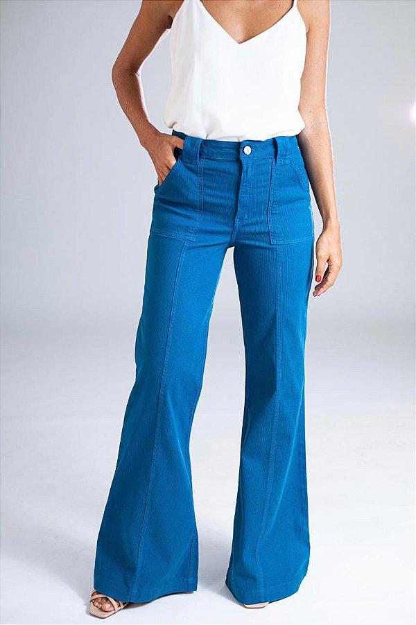 Pantalona Sarja Cotelê - Akita - Santé Denim