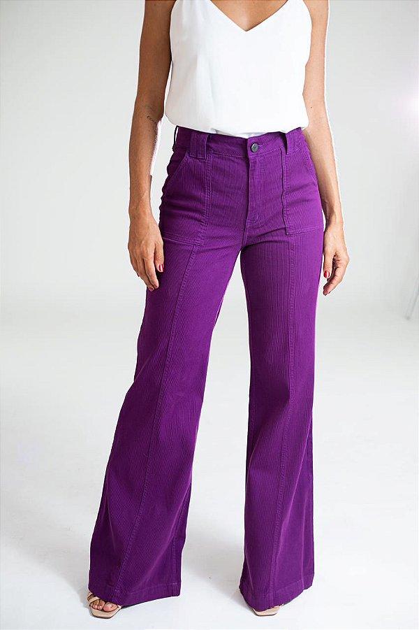 Calça Pantalona Sarja Cotelê - Quioto