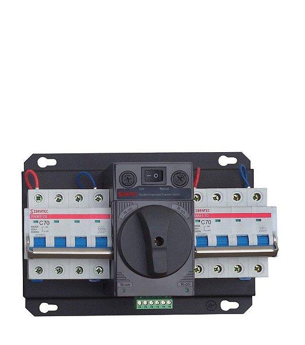 Chave de Transferência Rede/Gerador Automática HYCQ5-63H 70A - Atua Sob Carga