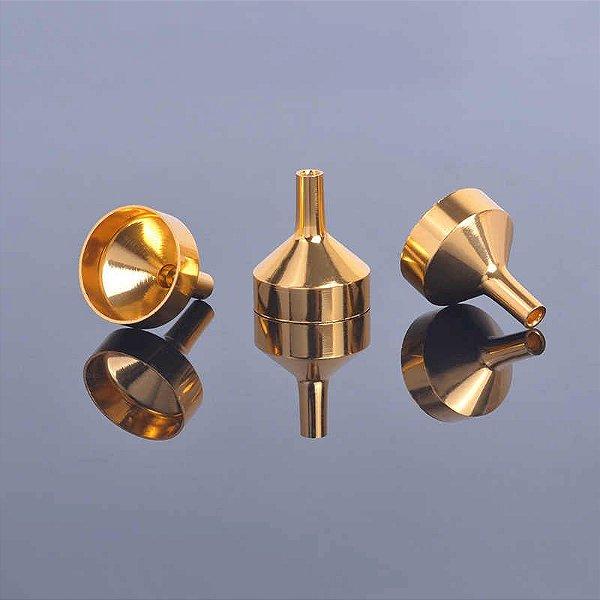 Mini Funil de Metal Dourado