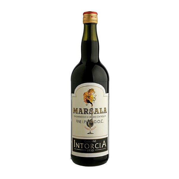 MARSALA INTORCIA FINE EXTRA DRY VINHO ITALIANO 1 LITRO