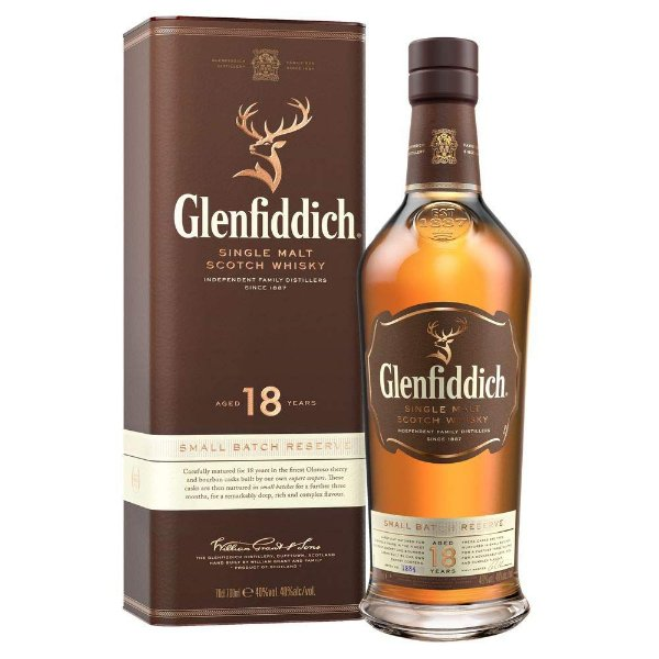 GLENFIDDICH 18 ANOS Whisky Single Malt Escocês 750ml