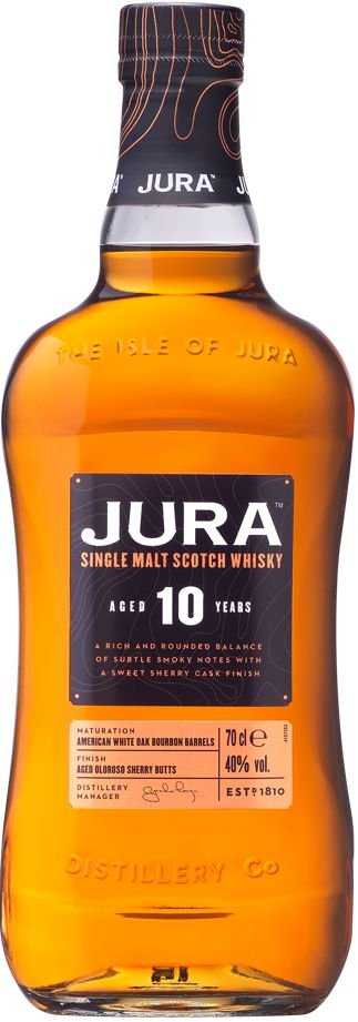 JURA 10 ANOS SINGLE MALT SCOTCH WHISKY ESCOCES 700ML