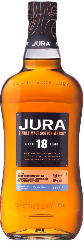 JURA 18 ANOS SINGLE MALT SCOTCH WHISKY ESCOCES 700ML