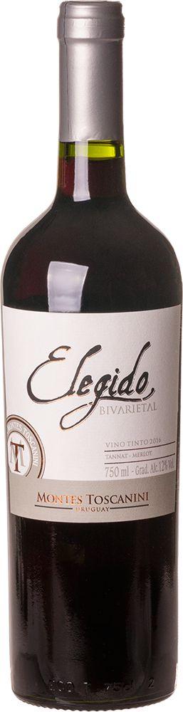 MONTES TOSCANINI ELEGIDO TANNAT/MERLOT VINHO URUGUAIO TINTO 750ML