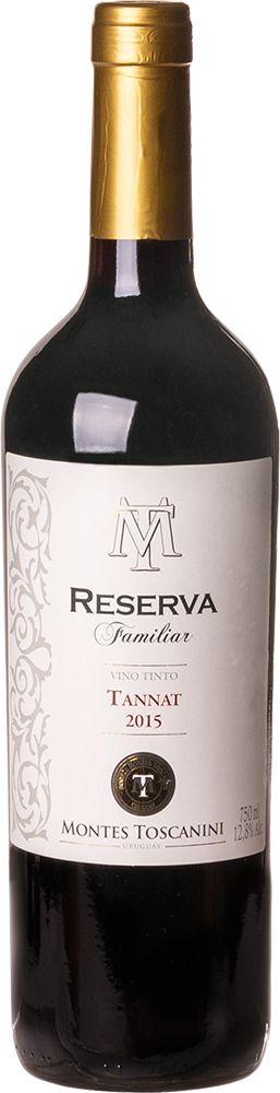 MONTES TOSCANINI RESERVA FAMILIAR TANNAT VINHO URUGUAIO TINTO 750ML