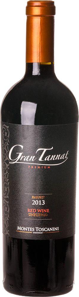 MONTES TOSCANINI GRAN TANNAT VINHO URUGUAIO TINTO 750ML