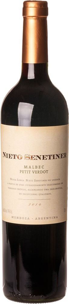 NIETO SENETINER MALBEC PETIT VERDOT VINHO ARGENTINO TINTO 750ML
