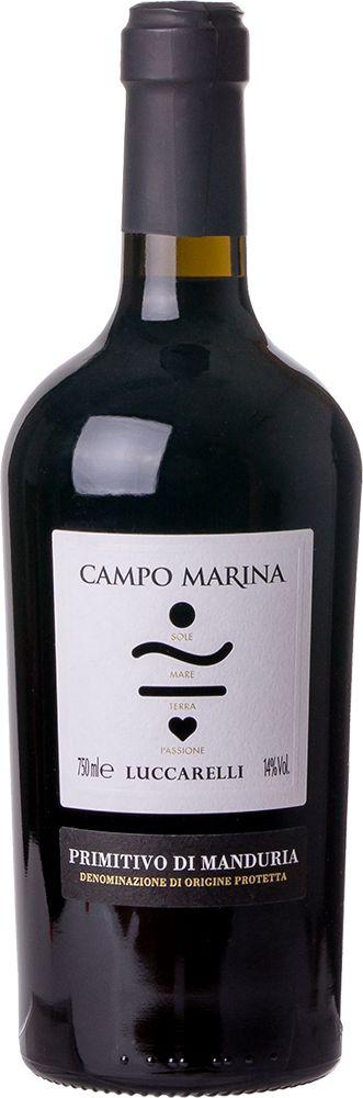 LUCARELLI CAMPO MARINA PRIMITIVO MANDURIA VINHO ITALIANO TINTO 750ML