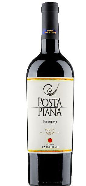 PRIMITIVO POSTA PIANA IGT VINHO ITALIANO TINTO 750ML