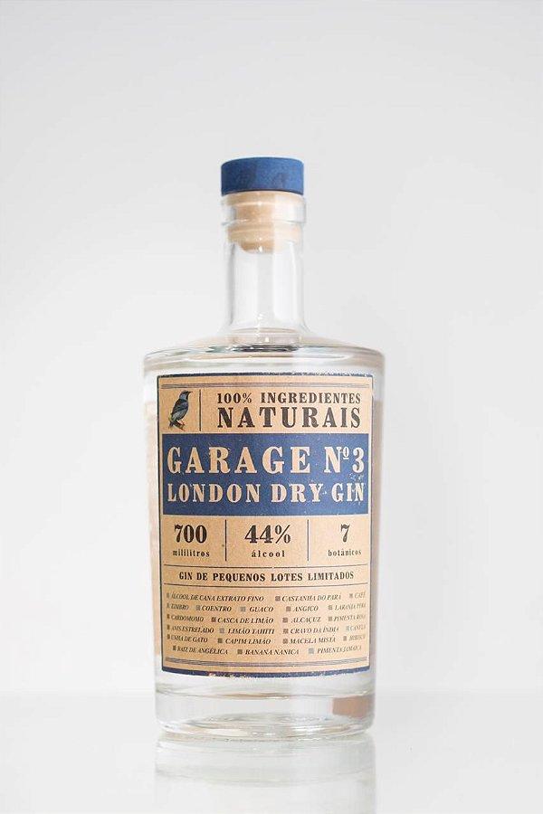 GARAGE N3 LONDON DRY GIN - LOTE LIMITADO - 700G
