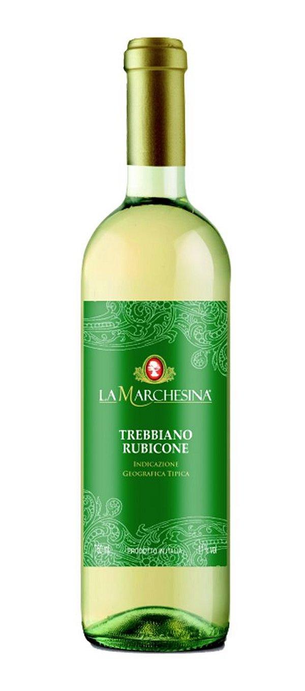 LA MARCHESINA TREBBIANO RUBICONE VINHO ITALIANO BRANCO 750ML
