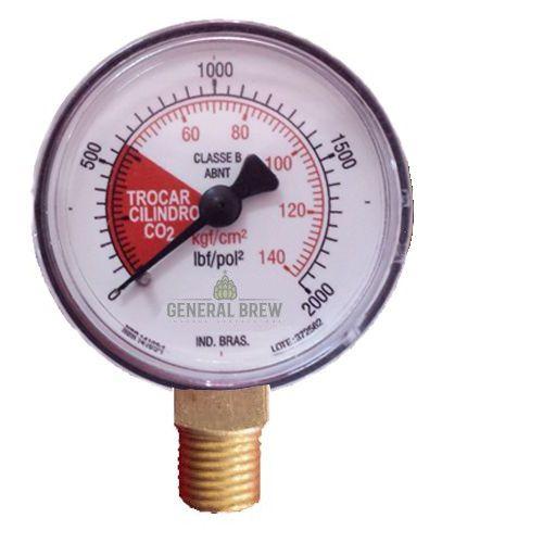 MANÔMETRO ALTA PRESSÃO 0-140 KG/CM²