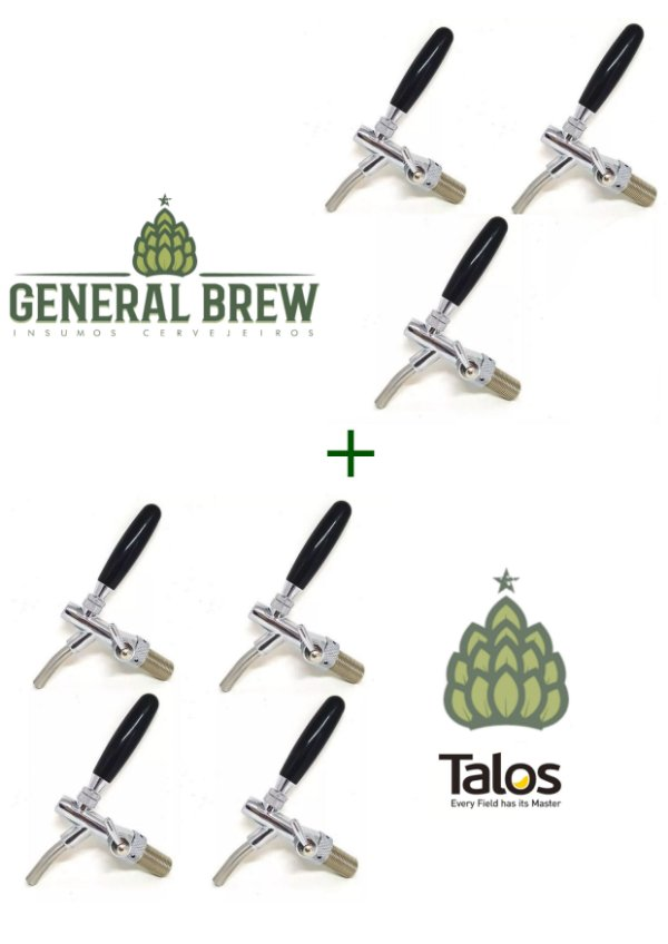 Kit 7 torneiras Talos