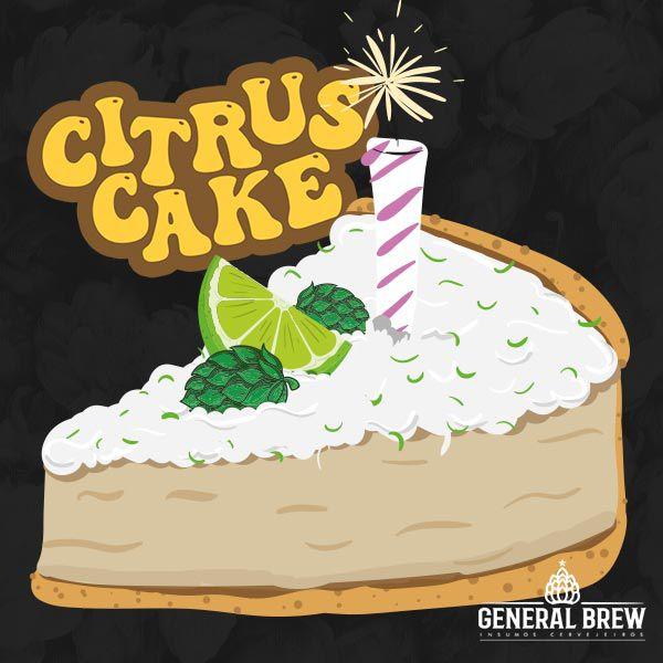 RECEITA EXCLUSIVA GENERAL BREW - KIT HOPPY SOUR - CITRUS CAKE